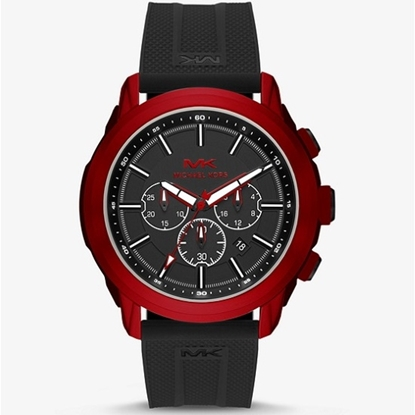 Picture of Michael Kors Kyle Sport Chrono Watch with Black Silicone Strap