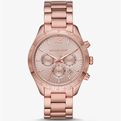 Picture of Michael Kors Layton Rose Gold-Tone Stainless Steel Watch