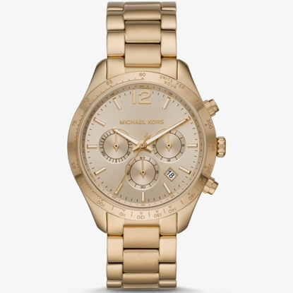 Picture of Michael Kors Layton Gold-Tone Stainless Steel Watch