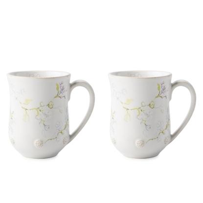 Picture of Juliska Berry & Thread Floral Sketch Jasmine Mugs - Set of 4