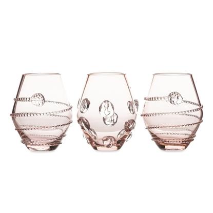 Picture of Juliska Set of 3 Assorted Mini Vases - Pink