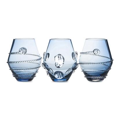 Picture of Juliska Set of 3 Assorted Mini Vases - Blue