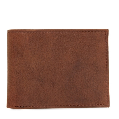 Picture of Johnston & Murphy Slimfold Wallet - Whiskey Milled Leather