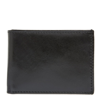 Picture of Johnston & Murphy Super Slim Wallet - Black Full Grain Leather
