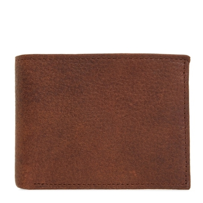 Picture of Johnston & Murphy Flip Wallet - Whiskey Milled Leather