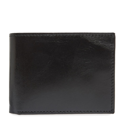 Picture of Johnston & Murphy Flip Wallet - Black Full Grain Leather