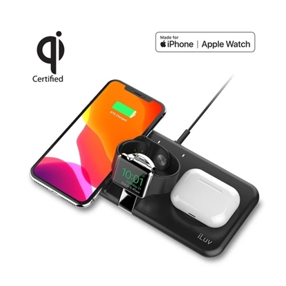 Picture of iLuv Wireless 3-in-1 Charging Dock - Qi & Apple Watch Charging