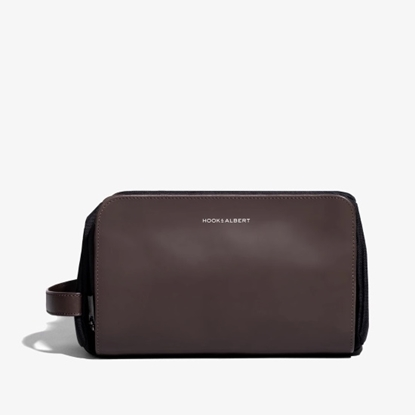 Picture of Hook & Albert Espresso Leather Dopp Kit