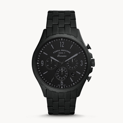 Picture of Fossil Forrester Chrono Black Stainless Steel Watch