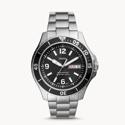Picture of Fossil FB-02 Stainless Steel Watch with Black Dial