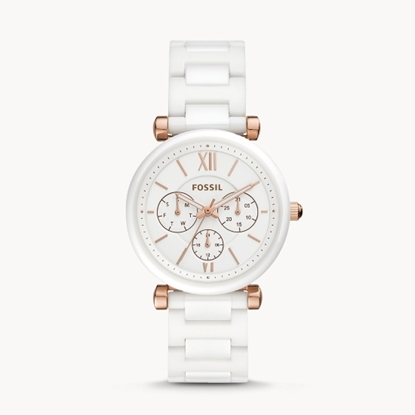 Picture of Fossil Carlie White Ceramic Watch