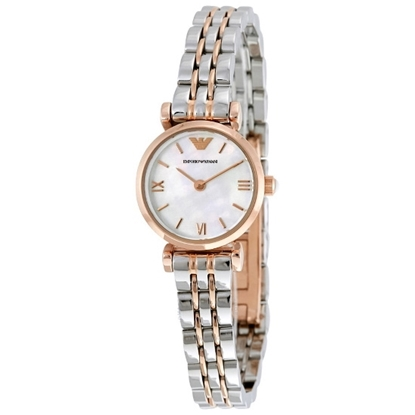 Picture of Emporio Armani Classic Two-Tone Watch w/ Mother-of-Pearl Dial