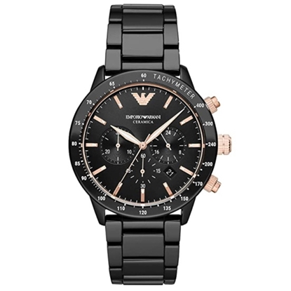 Picture of Emporio Armani Mario Black Ceramic Watch