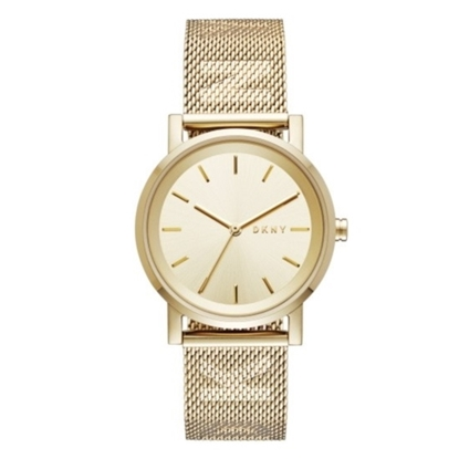 Picture of DKNY Soho Gold-Tone Stainless Steel Mesh Watch