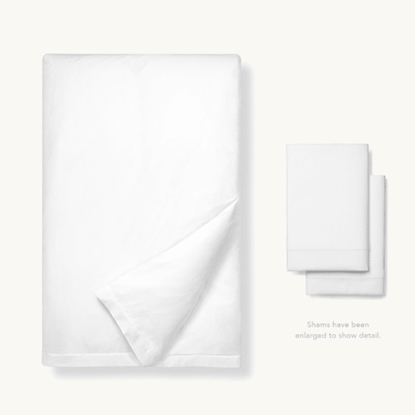 Picture of Boll & Branch Classic Hemmed King/CA King Duvet Set - White