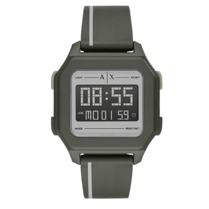Picture of Armani Exchange Shell Digital Matte Green Watch