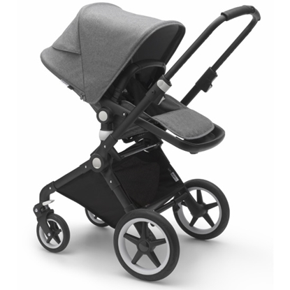 Picture of Bugaboo Lynx Stroller with Organizer & Cup Holder - Black/Grey