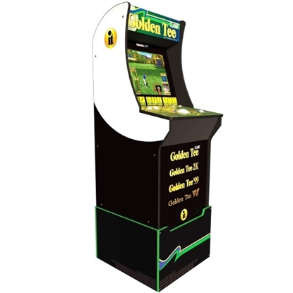 Picture of Arcade1Up Golden Tee Arcade Cabinet with Riser