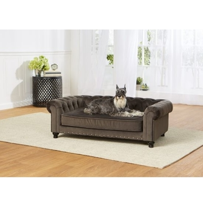 Picture of Enchanted Home Pet Wentworth Velvet Sofa - Charcoal Grey
