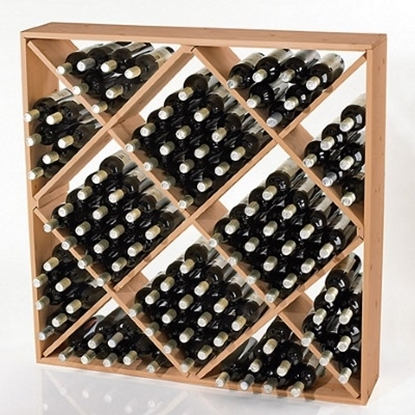 Picture of Wine Enthusiast Jumbo Bin 120-Bottle Wine Rack - Natural
