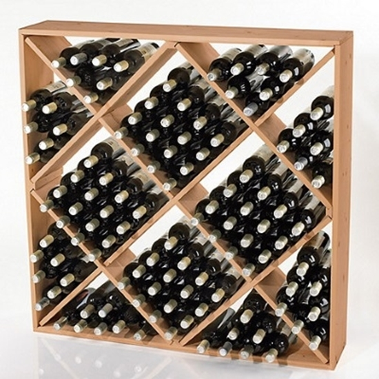 Picture of Wine Enthusiast Jumbo Bin 120-Bottle Wine Rack - Natural