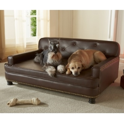 Picture of Enchanted Home Pet Library Pet Sofa - Brown Pebble