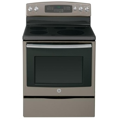 "Picture of GE® 30"" Electric Convection Range - Slate"
