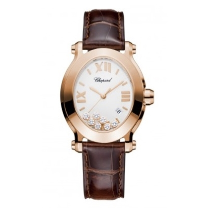 Picture of Chopard Happy Sport Oval Watch with 18K Rose Gold & Diamonds