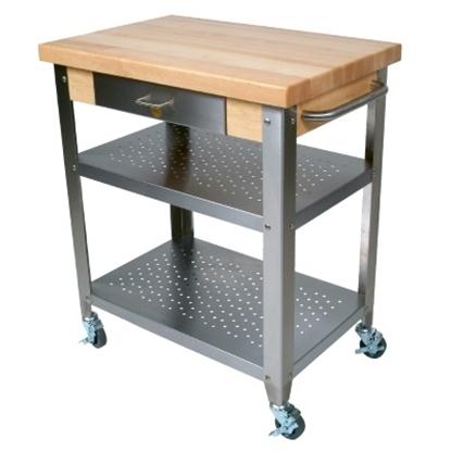 Picture of John Boos Cucina Elegante 30 Kitchen Cart - Maple