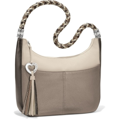 Picture of Brighton® Barbados Ziptop Hobo - Neutral-Multi