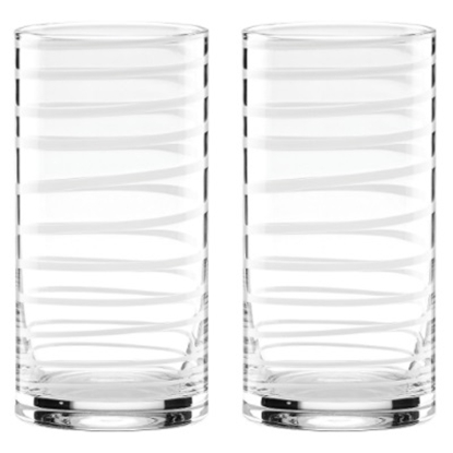 Picture of Kate Spade Charlotte Street White Hiball Glasses - Set of 2