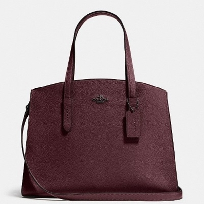 Picture of Coach Leather Charlie Carryall - Oxblood