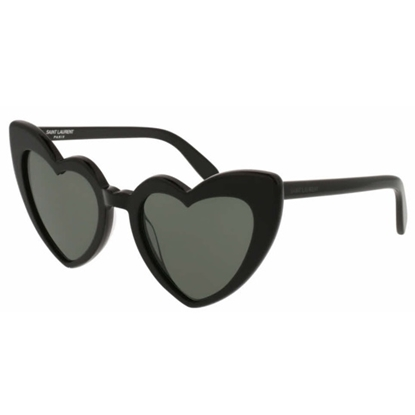 Picture of YSL Lou Lou Heart Shaped Sunglasses - Black/Grey