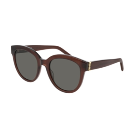 Picture of YSL Rounded Cat Eye Sunglasses with Monogram Logo - Brown