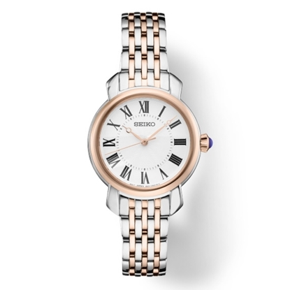 Picture of Seiko Ladies' Essential Two-Tone Steel Watch with White Dial