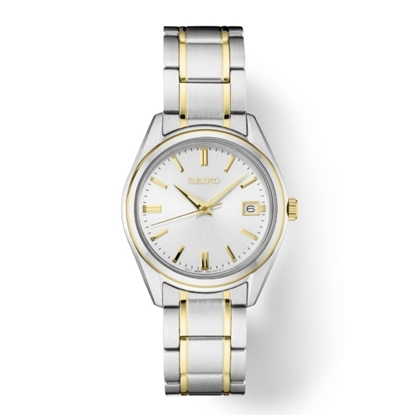 Picture of Seiko Ladies' Essential Two-Tone Steel Watch with Silver Dial