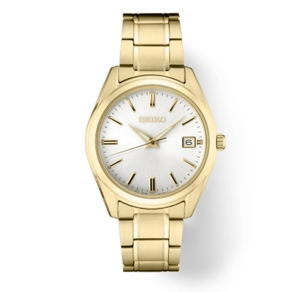 Picture of Seiko Men's Essential Gold-Tone Watch with White Dial
