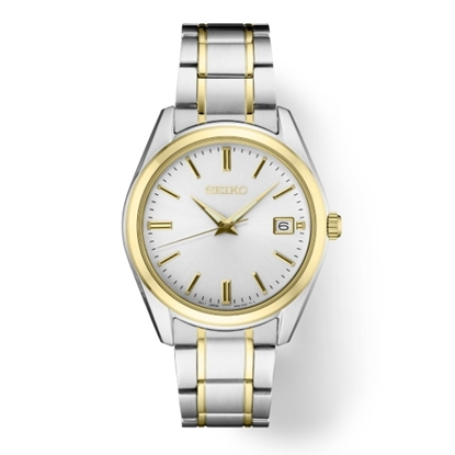 Picture of Seiko Men's Essential Two-Tone Steel Watch with White Dial