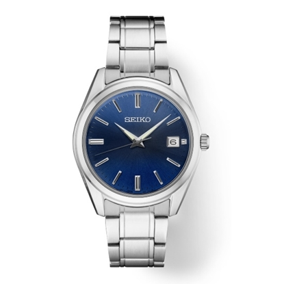 Picture of Seiko Men's Essential Stainless Steel Watch with Blue Dial