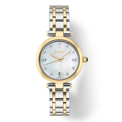 Picture of Seiko Ladies' Diamond Two-Tone Steel Watch with MOP Dial