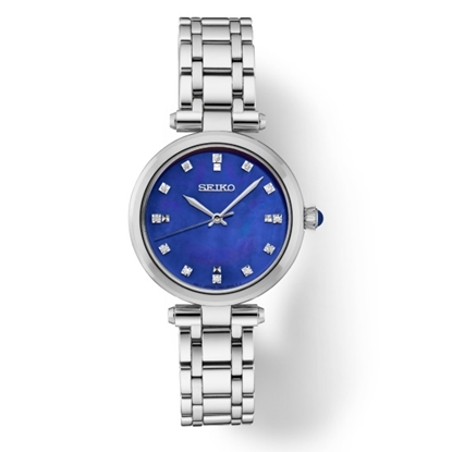 Picture of Seiko Ladies' Diamond Stainless Steel Watch with Blue MOP Dial