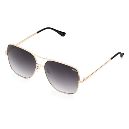Picture of QUAY Stop and Stare Sunglasses - Gold/Smoke