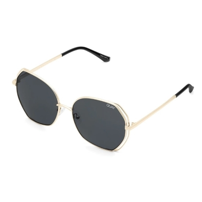 Picture of QUAY Big Love Sunglasses - Gold/Smoke