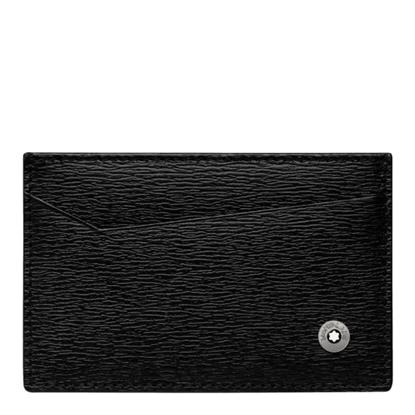 Picture of Montblanc 4810 Westside Pocket 2-Slot Card Holder - Black