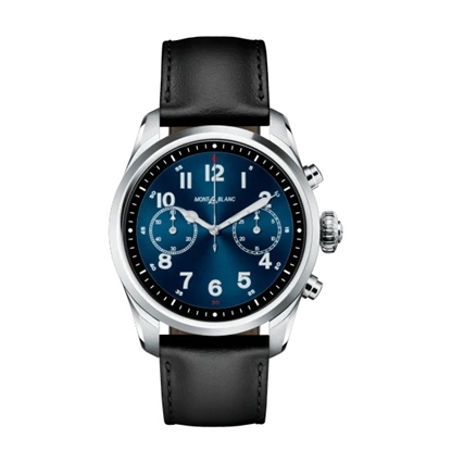Picture of Montblanc Summit 2 Stainless Steel Watch with Leather Strap