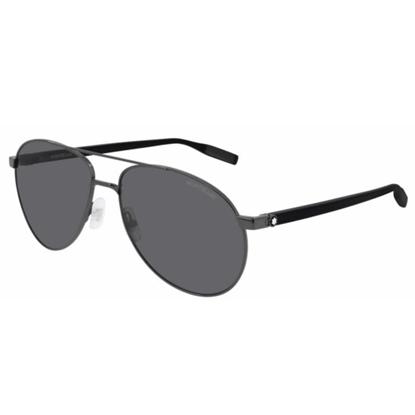 Picture of Montblanc Aviator Sunglasses - Ruthenium/Grey