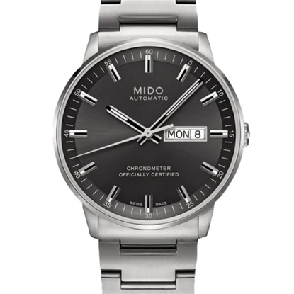 Picture of Mido Commander Chronometer Steel Watch with Grey Dial