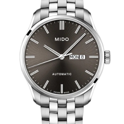 Picture of Mido Belluna II Auto Stainless Steel Watch with Brown Dial
