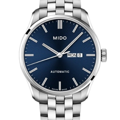 Picture of Mido Belluna II Stainless Steel Watch with Blue Dial