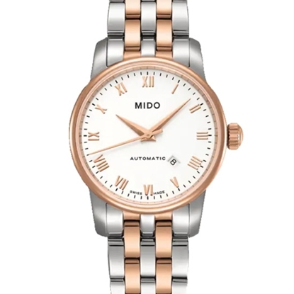Picture of Mido Baroncelli Automatic Stainless Steel Watch w/ White Dial